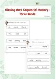 Missing Word Sequential Memory (Kindergarten)