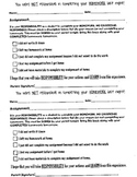 Missing Work Accountable Student Form