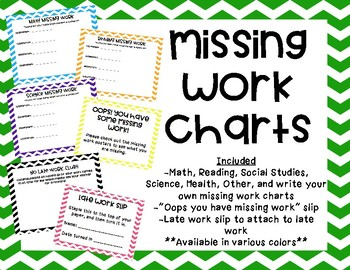 Missing Work Charts