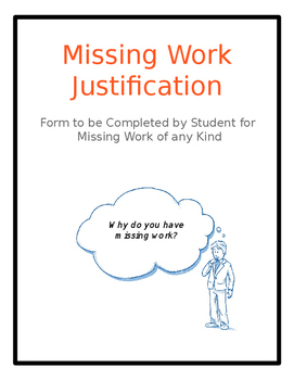 Missing Work Justification Form