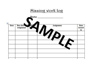 Missing Work Log