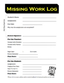 Missing Work Log for Students