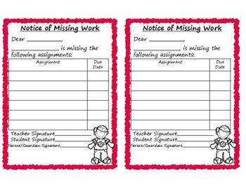 Missing Work Notice