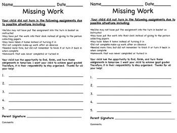 Missing Work