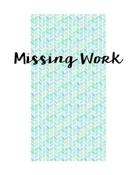 Missing Work Sign