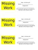 Missing Work System