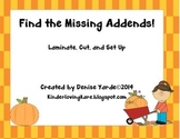 Missing addend addition center