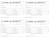 Pink Slips for Missing Work Documentation