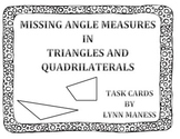 Missing angle measures in triangles and quadrilaterals task cards. STAAR review
