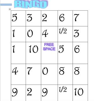 Missing factor bingo