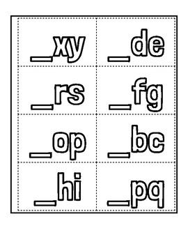 Missing letter center Spanish