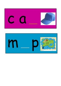 Missing letter word cards