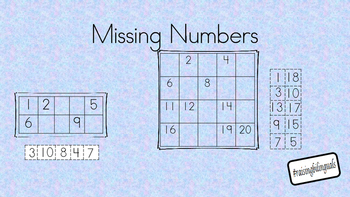 Missing number cut and paste