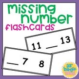 Missing number flashcards / ¿Qué número falta?