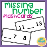 Missing number flashcards / ¿Qué número falta?