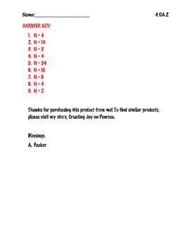 Missing number in Multiplication