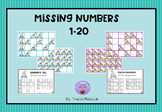 Missing numbers 1-20 winter with work sheets
