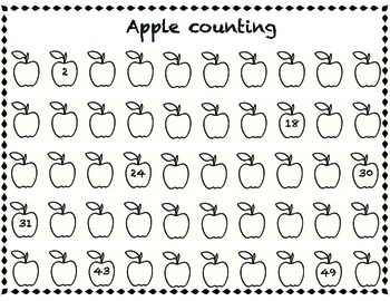 Missing numbers - apple theme by Excited about Elementary | TpT