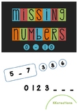 Missing numbers - before & after {FREEBIE}