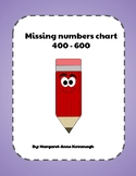 Missing numbers chart - 400-600