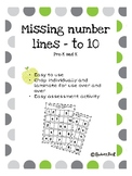 Missing numbers to 10 activity