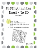 Missing numbers to 20 activity