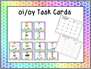 Missing oi/oy Task Cards