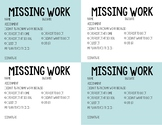 Missing or Redo Assignments