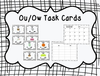Missing ou/ow Task Cards