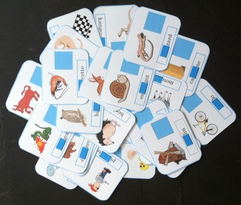 Missing syllables (level 1) : Learning game to read french
