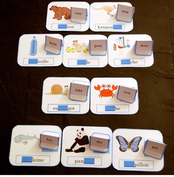 Missing syllables (level 2) : Learning game to read french
