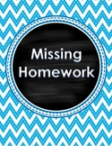 Missing/Late Homework Record Keeper Binder