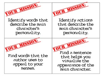 Mission Cards: Literature