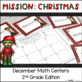 Mission: Christmas (December Math Centers for 2nd Grade)