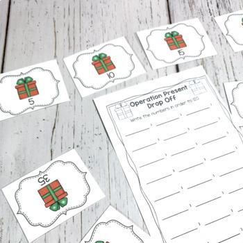 December Math Centers for First Grade