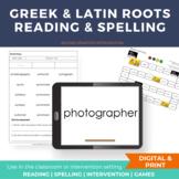 Greek and Latin Roots Morphology