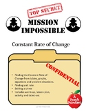 Mission Impossible Constant Rate of Change