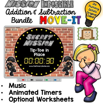 Mission Impossible Math MOVE IT! Addition and Subtraction Bundle