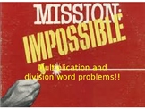 Mission Possible word problems