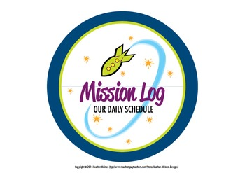 Mission Log (Daily Schedule Sign)