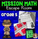 Mission Math: Classroom Escape Room for Grade 5