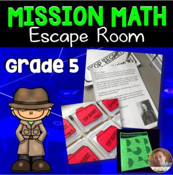 Mission Math: Classroom Escape Room for Grade 5