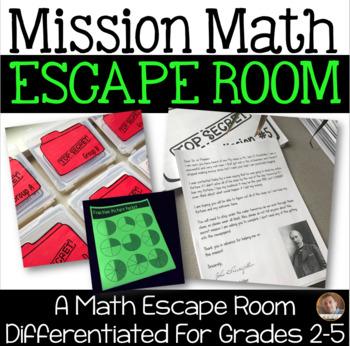 Classroom Escape Room Mission Math Differentiated For Grades 2 5
