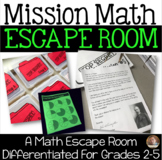 Classroom Escape Room: Mission Math- Differentiated for Grades 2-5