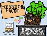 Mission: Math {Kindergarten Math Tasks and Journal Prompts}
