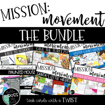 Mission Movement {task cards with a twist} THE GROWING BUNDLE