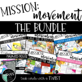 Holiday Centers-  Mission Movement {task cards with a twist-  THE GROWING BUNDLE