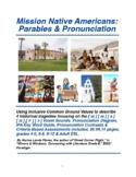 Mission Native Americans: Parables & Pronunciation Skills