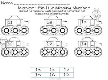 Mission: Number Battle -- A Greater Than / Less Than Activity Pack