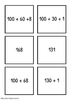 Mission Partition - Partition 3 Digit Numbers - Expanded Notation